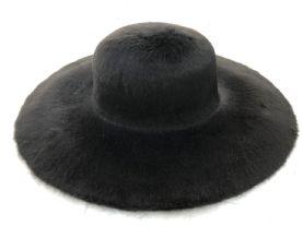 Black Melusine Fur Felt Milliner's Capeline